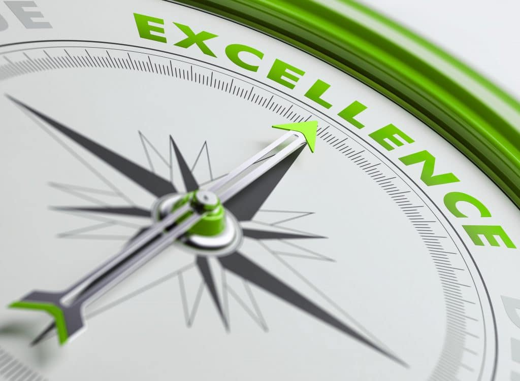 green compass to excellence, interactive display